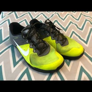 Neon yellow/ grey NIKE METCON 2
